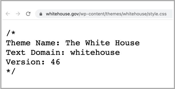 ホワイトハウスのホームページはワードプレス